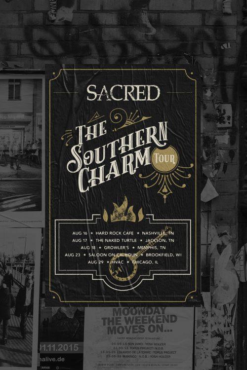 SACRED The Southern Charm Tour Poster