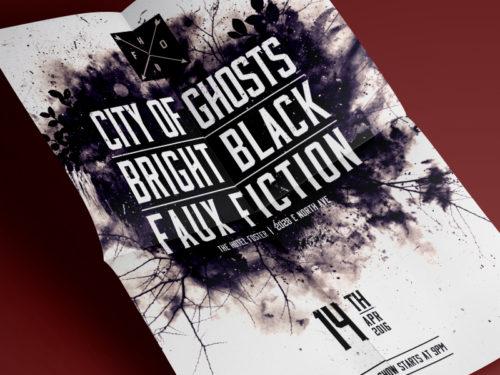 Bright Black Poster